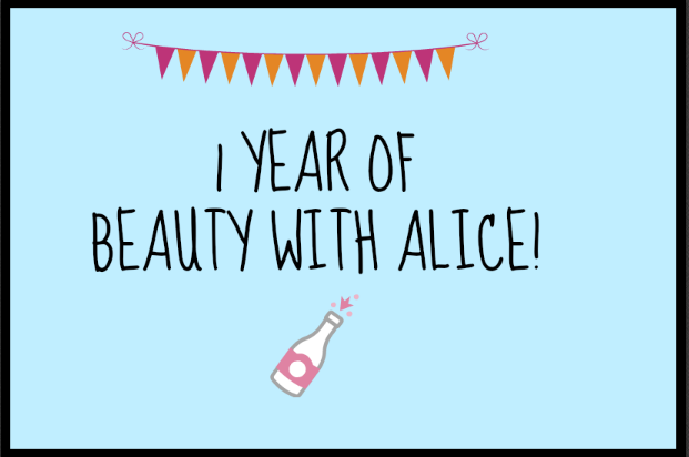 1 year of Beauty with Alice